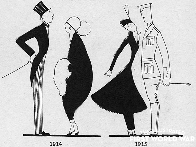 Illustration by Annie Fish in The Tatler (The Letters of Eve), 6 January 1915