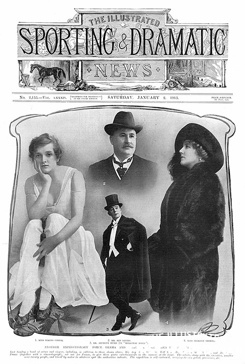 Seymour Hicks & Gladys Cooper concert party to the front