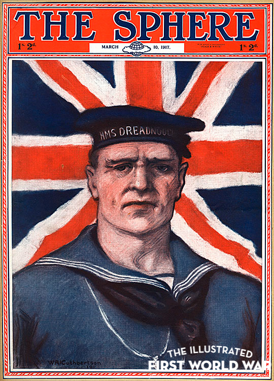 Sphere cover, WW1 patriotic sailor